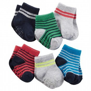 Carter's 6PK Multi Stripe Socks