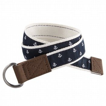 Oshkosh Navy Schiffli Belt