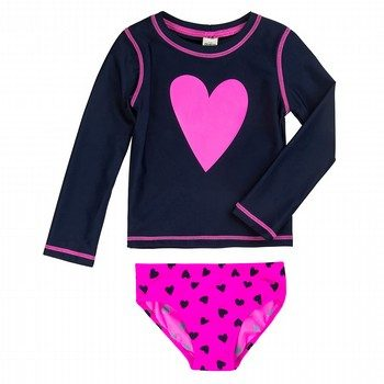 Oshkosh 2PC Heart Rashie & Boardshort Set