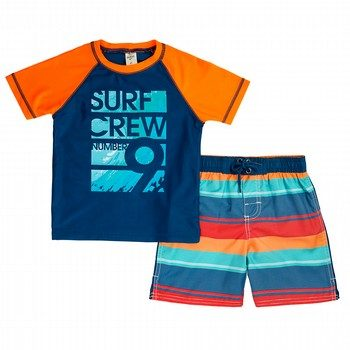 Oshkosh 2PC Surf Crew Rashie & Boardshort Set