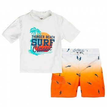 Oshkosh 2PC Surf Classic Rashie & Boardshort Set