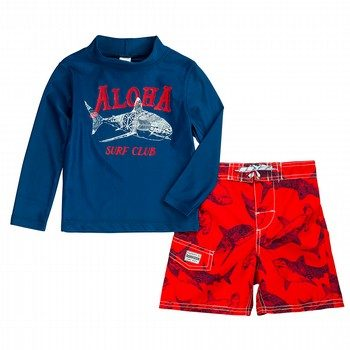 Oshkosh 2PC Aloha Rashie & Boardshort Set