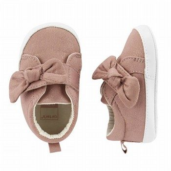 Carter's Bow Sneaker Crib Shoes