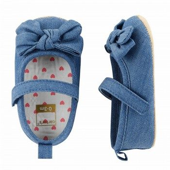 Carter's Chambray Mary Jane Crib Shoes