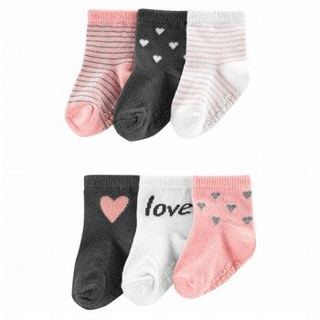 Carter's 6PK Love Heart Socks