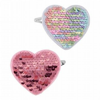 Carter's 2PK Flip Sequin Heart Hair Clips