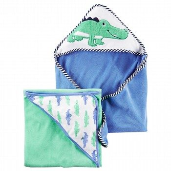 Carter's 2PK Alligator Towels