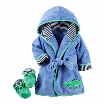 Carter's 2PC Alligator Robe & Bootie Set