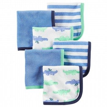 Carter's 6Pk Alligator Washcloths