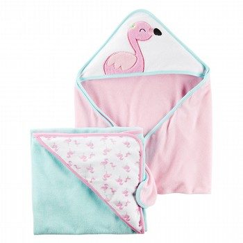 Carter's 2PK Flamingo Hooded Towels