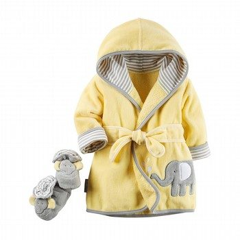 Carter's 2PC Elephant Robe & Bootie Set
