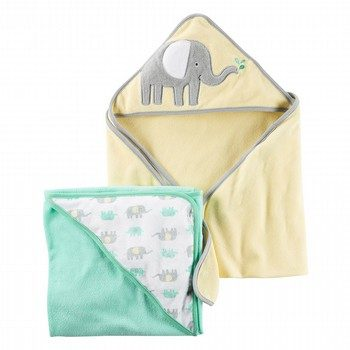Carter's 2PK Elephant Hooded Towels