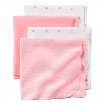 Carter's Hello Love 4PK Receiving Blanket Set