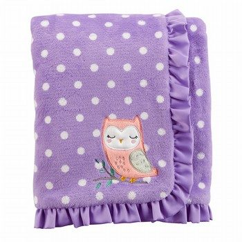 Carter's Owl Polka Dot Plush Blanket