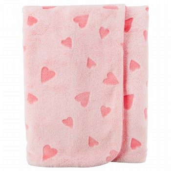 Carter's Heart Plush Blanket