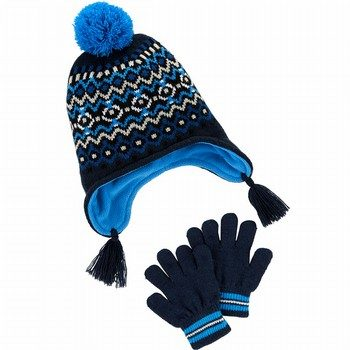 Carter's Fair Isle Hat & Glove Set