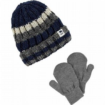 Carter's Striped Hat & Mitten Set