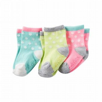 Carter's 3PK Dot Crew Socks