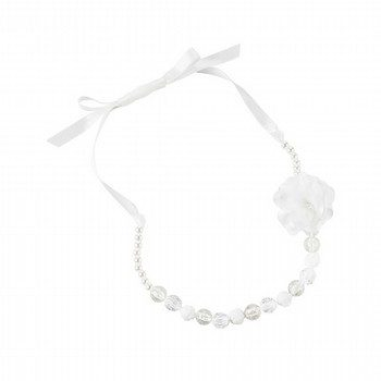 Carter's Flower Pom Pom Beaded Necklace