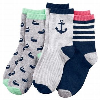 Carter's 3PK Nautical Crew Socks