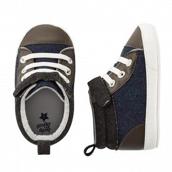 Oshkosh High Top Velcro Crib Shoe