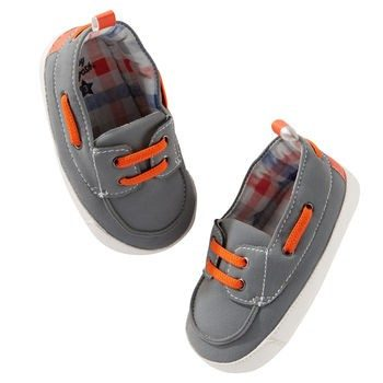 Oshkosh Grey Boat Crib Shoes