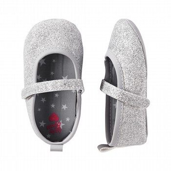 OshKosh Glitter Mary Jane Crib Shoes