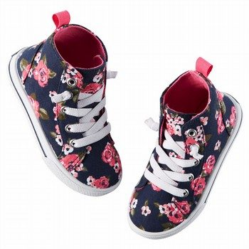 Carter's Floral Mid Top Sneakers