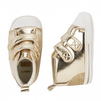Carter's Metallic Velcro High Top