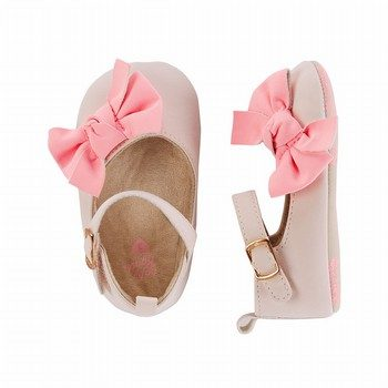OshKosh Pink Bow Crib Shoes