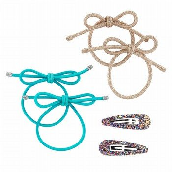 OshKosh B'gosh 6PK Bow Pony Holders & Clips