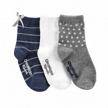 OshKosh B'gosh 3PK Stripes & Dots Crew Socks