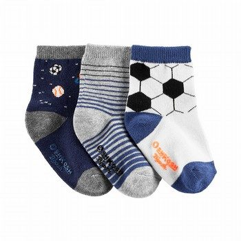 OshKosh B'gosh 3PK Glow-In-The-Dark Sports Crew Socks