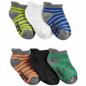 OshKosh B'gosh 6PK Stripe Ankle Socks
