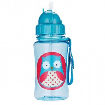 Skip Hop Zoo Owl Straw Bottle
