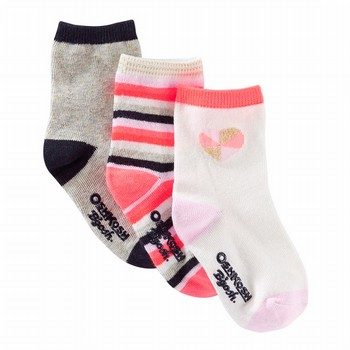 OshKosh B'gosh 3Pk Striped Crew Socks