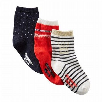 OshKosh B'gosh 3PK Crew Socks
