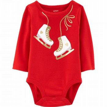 Carter's Glitter Ice Skates Collectible Bodysuit