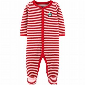 Carter's Christmas Snap-Up Velour Sleep & Play Onepiece