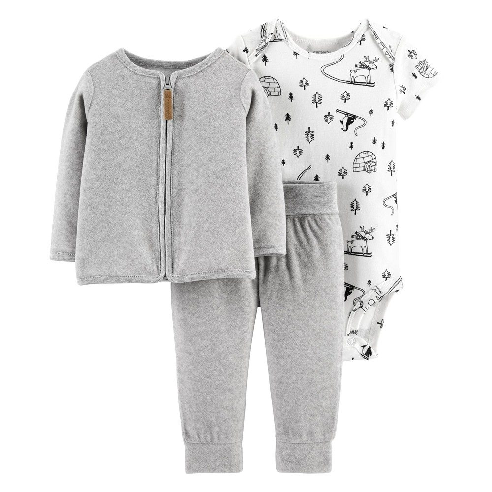 Essentials Baby 3-Piece Cardigan Set
