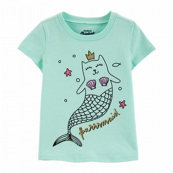 OshKosh B'gosh Originals Cat Mermaid Graphic Tee