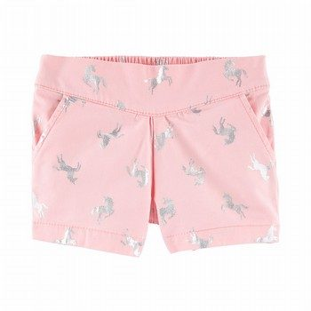 OshKosh B'gosh Pleated Pull-On Unicorn Shorts