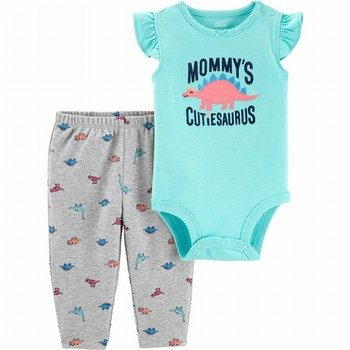 Carter's 2PC Dinosaur Bodysuit Pant Set