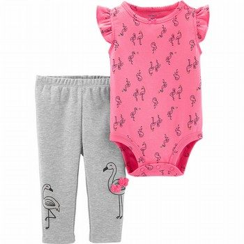 Carter's 2PC Flamingo Bodysuit Pant Set