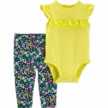 Carter's 2PC Lace Bodysuit Pant Set