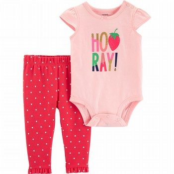 Carter's 2PC Strawberry Bodysuit Pant Set