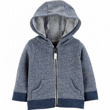 Carter's Marled Yarn Zip-Up French Terry Hoodie