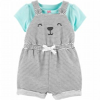 Carter's 2PC Tee & Bear Shortalls Set