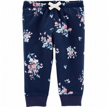 Carter's Floral Pull-On French Terry Pants