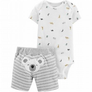 Carter's 2PC Koala Bodysuit & Short Set
